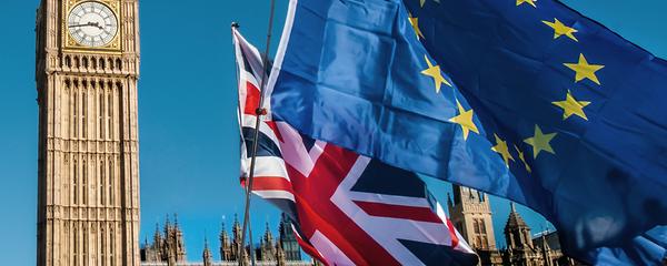 England Uk Brexit EU Fahne big ben London 146100815